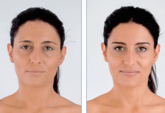 Semi-permanent makeup.